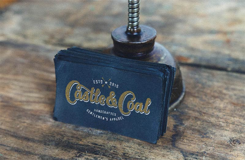Castle and Coal business card