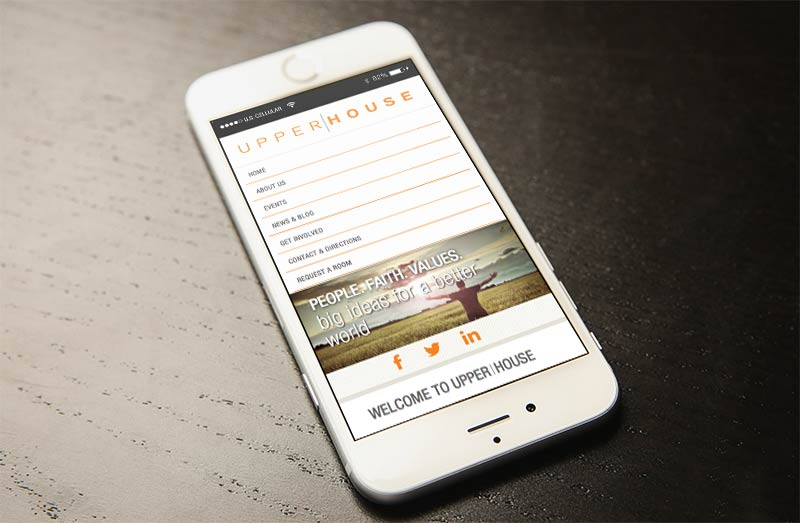 Upper House Website Mobile View